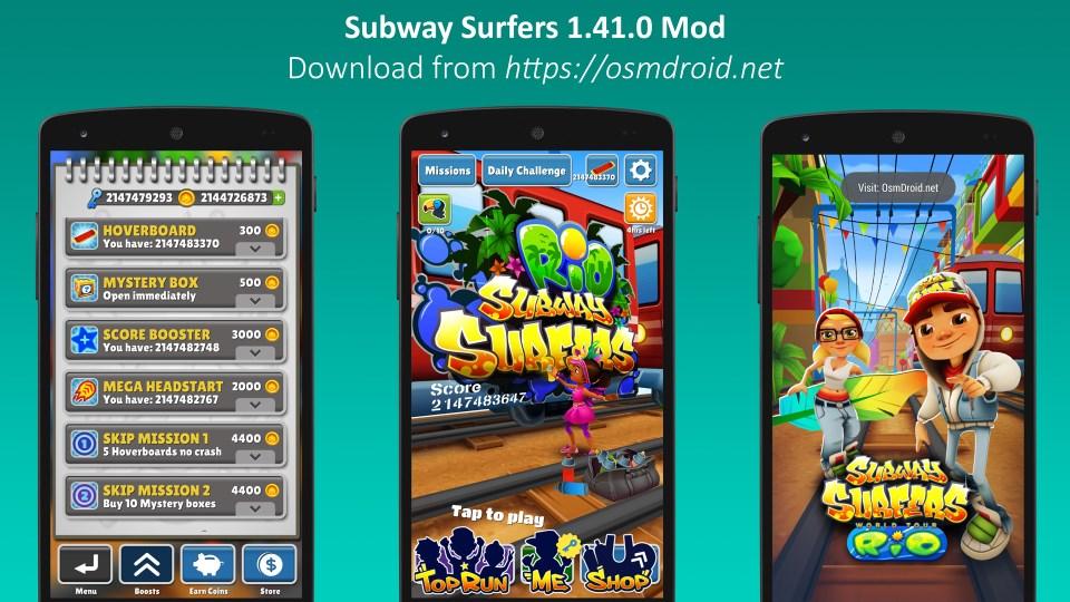subway surfers 1.41.0 mod
