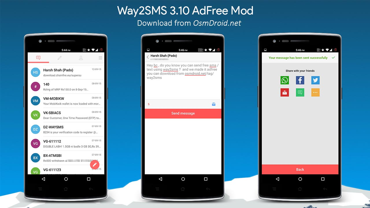 way2sms adfree