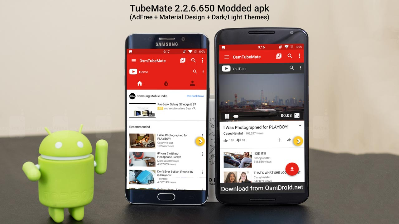 tubemate material design adfree modded